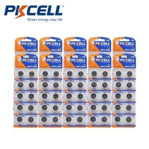 Image 1 - 100 шт. PKCELL LR44 AG13 1,5 V 357A A76 303 SR44SW SP76 L1154 RW82 RW42 термометр Батарея Кнопка ячейки щелочные батареи