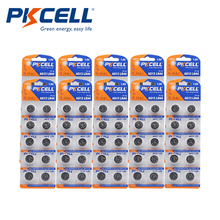100Pcs PKCELL LR44 AG13 1.5V 357A A76 303 SR44SW SP76 L1154 RW82 RW42 thermometer Battery Button Coin Cell Alkaline batteries
