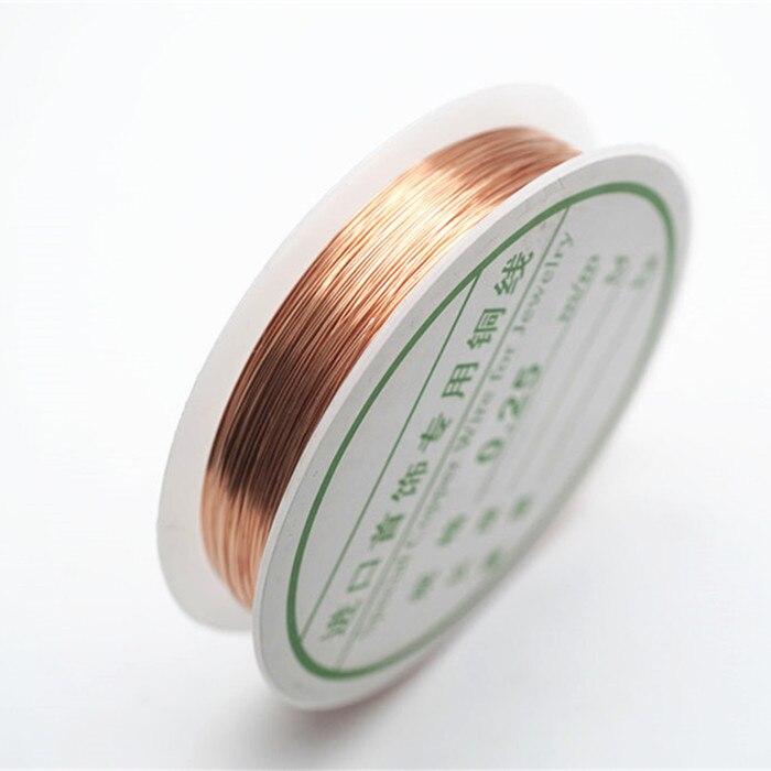 Четырехслойный разноцветный комбинезон серебро Медный провод для браслет Цепочки и ожерелья самодельные Украшения, Аксессуары 0,2/0,25/0,3/0,5/0,6/1,0 мм ремесло Бисер провода HK018 - Цвет: Rose gold wire