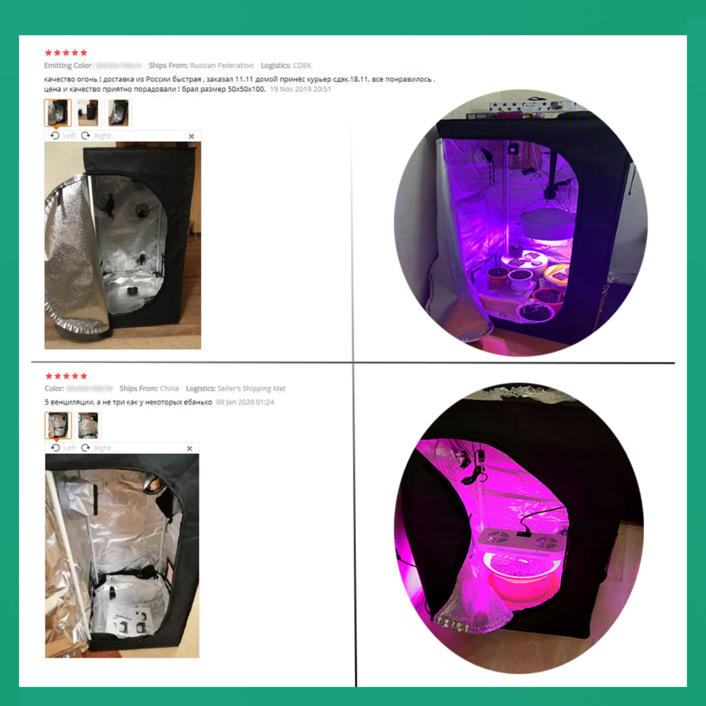 BEYLSION 600D Indoor Hydroponics Grow Tent Hydroponic Grow Box Grow Room Tent Plant Growing Tents For Indoor Plants Hydroponic 6