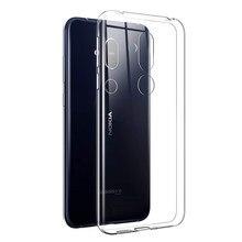 Olhvetra capa de silicone tpu transparente, macia, para nokia 4.2 3.2 2.2 2 3 5 6 7 8 9 2.1 3.1 capa de estojo 5.1 6.1 7.1 plus x71 x7, 8.1