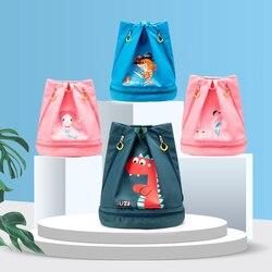 Dzieci wodoodporny plecak torby sportowe dla dzieci chłopcy dziewczęta pływanie plecak Combo suche torby na pieluchy Camping Pool Beach Outdoor