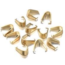Lote de 50 unidades de broches de acero inoxidable dorado para collar, abalorios, hebilla de semillas de melón, colgante DIY, conectores de pulsera, accesorios de joyería