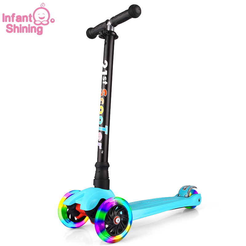 Bicicleta Infantil 21st Scooter Flash Wheel Children 3-12 Years Outdoor Toys Baby Tricycle Wheels Kid Bike Slide Ride On Toy