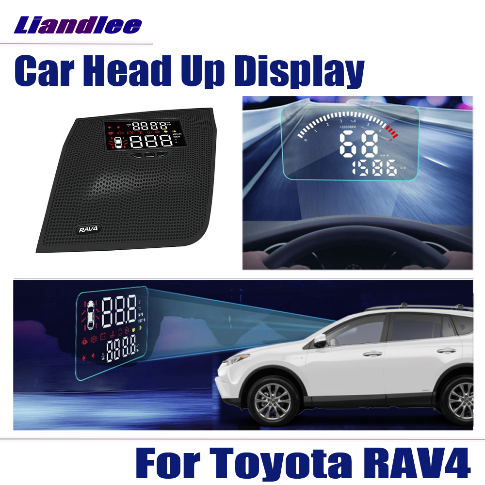 Car HUD Head Up Display For Toyota RAV4 2016 2017 2018 HD Projector Screen Overspeed Alert Alarm Detector