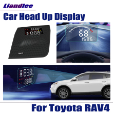 Auto Accessoires Headup Hud Head Up Display Obd OBD2 Voor Toyota RAV4 2016 2017 2018 Hd Projector Scherm Overspeed