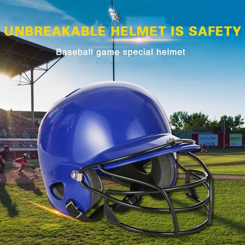 Blue Professional Baseball Helmet Adult Teenager Kids Ear Head Face Mask Protective Baseballs Match Training Softball Helmet