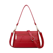 Genuine Leather Litchi lines women shoulder bags Small Crossbody bag for fashion Wristlets
