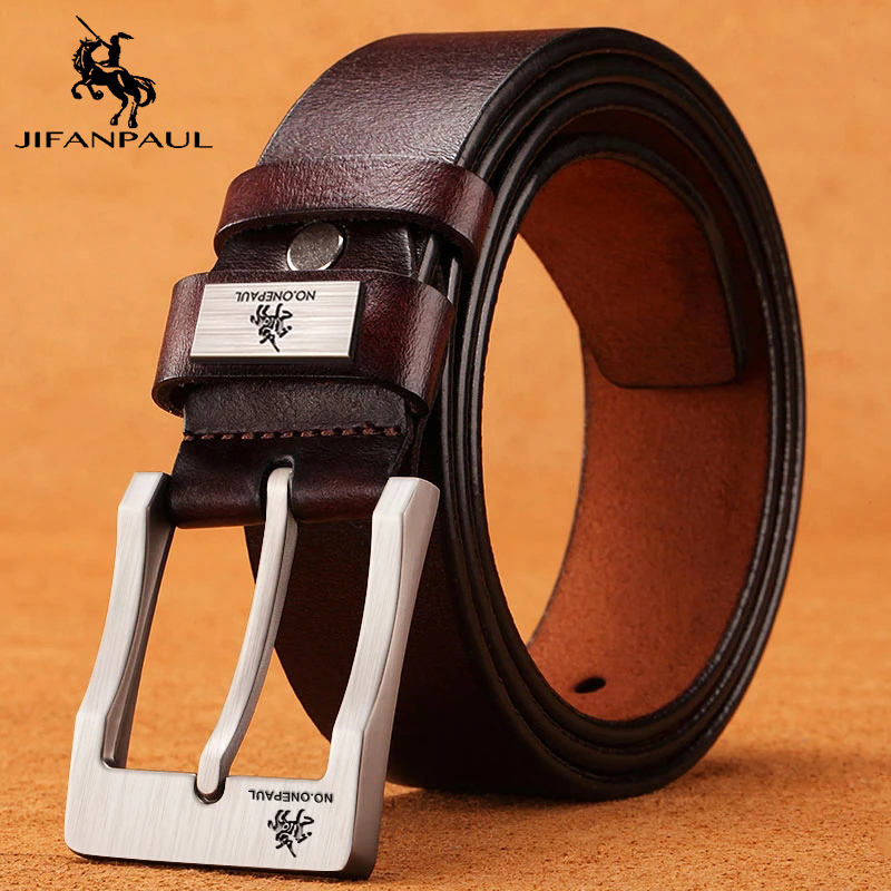 Genuine Leather For Men\'s High Quality Buckle Jeans Cowskin Casual Belts Business Cowboy Waistband Male Fashion Designer 2021New