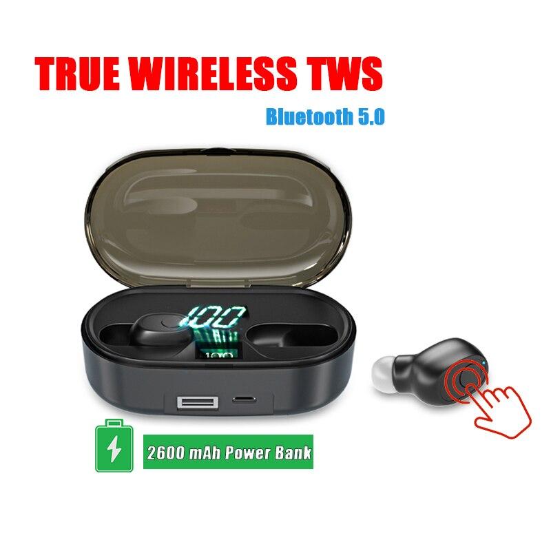 New Original Touch Mini H1 Tws In Ear Wireless Earbuds Bluetooth 5.0 Earphones Bass Sport Headsets Auriculares PK i12 i900 elari
