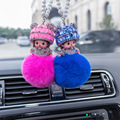Monchichi Women's Automobile Hanging Ornament Crystal Vehicle-mounted Rearview Mirror Car Accessories Decoration Car with Hangin