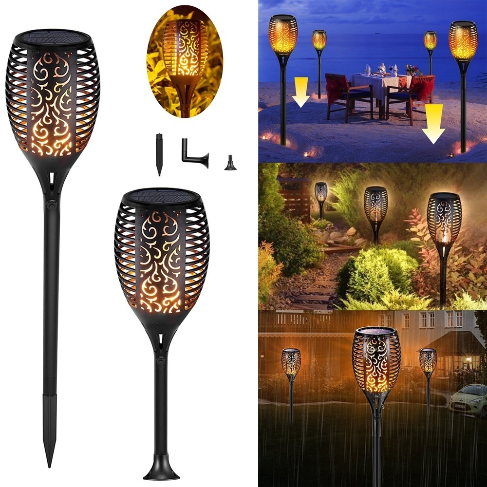 Solar Flame Light Soft Light Control Dance Flame Design Outdoor Waterproof Garden Torch Lamp For Courtyard Garden Balcony