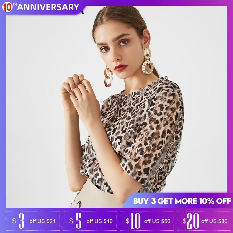 Vero Moda Women Leopard Print  Short Sleeve T Shirt| 3192T1549