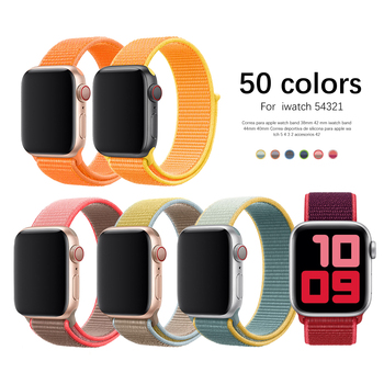 New Nylon Strap for Apple Watch Band 44mm 40mm for iWatch SE 6 Series 5 4 3 2 1 Bands 38mm 42mm Replacement Sport Correas soft silicone sport band for apple watch series 2 replacement strap for apple iwatch two colors sport band joyozyluxury bands