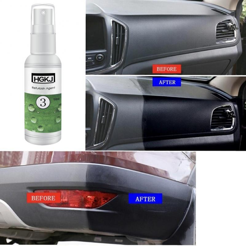 HGKJ-3-50ml Car Interior Leather Plastic Parts Retreading Agent Maintenance Cleaner Refurbisher Agent Car Leather Care Remove