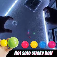 4pc vara bola de parede globbles brilhantes squash natal pegajoso alvo bolas descompressão jogar brinquedo fidget crianças presente novidade stress rel