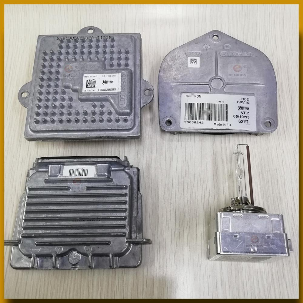 Used Kit OEMHIDS OEM For 14-17 Quattroporte Xenon Ballast 7Green 89089352 & D3S Bulb Module L90028085 Computer 90036242