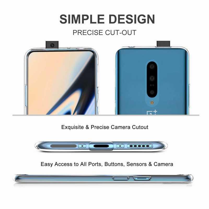 Funda de silicona TPU transparente resistente a los arañazos y a prueba de caídas para OnePlus 7 7T Pro 6T 5T 6 5