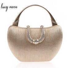 Wedding Clutch Bag Luxury Handbags for Women Champagne Elegant Shoulder Bag Diamond U Shape Clasp Clutch Bag Purse ZD1346