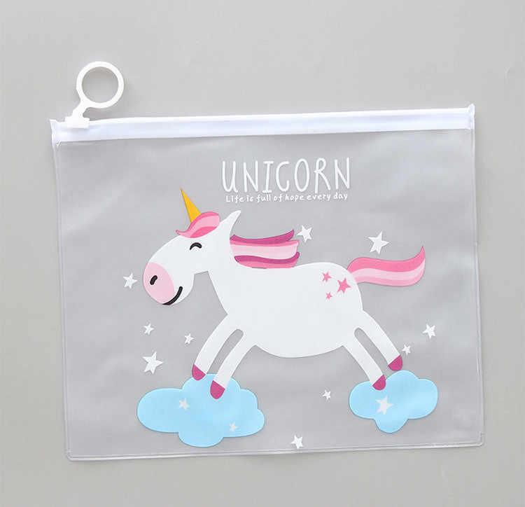 חמוד דמעות Unicorn קלמר בית ספר ציוד משרדי Kawaii מכתבים Estuches Chancery בית ספר חמוד עיפרון תיבת עט שקיות