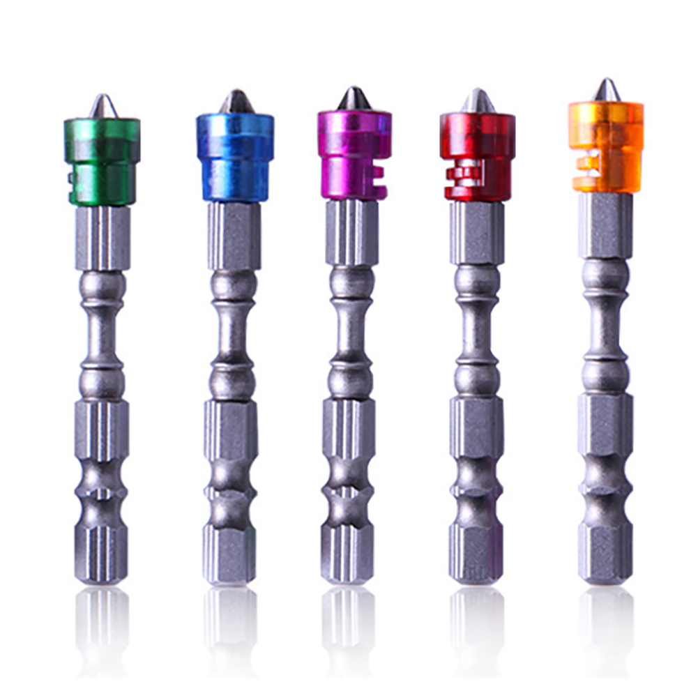 5pcs/set 65mm Magnetic Drill Screwdriver Bits Anti Slip Steel Cross Head Group Screw Driver Screwdrivers Kit  Hand Tools