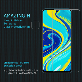 for Xiaomi Redmi Note 9 Pro/ 9 Pro Max/ 9S Tempered Glass Screen Protector Nillkin 9H Hard Safety Glass on Redmi Note 9 Pro