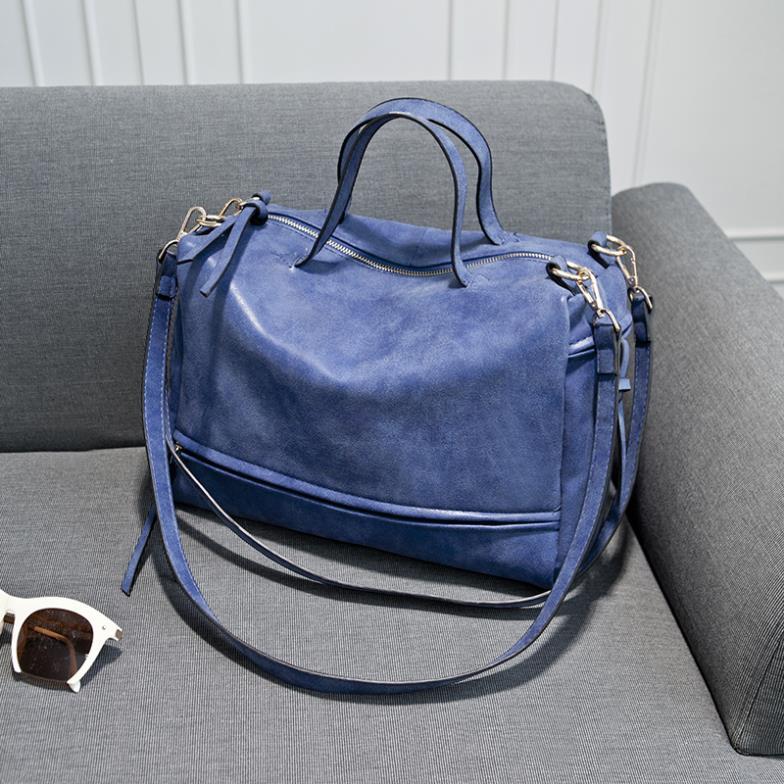 Bolish Brand Fashion Female Shoulder Bag Nubuck Leather women handbag Vintage Messenger Bag Motorcycle Crossbody Bags Women Bag