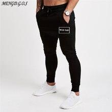 Хлопковые модные мужские брюки для бега тренажерного зала фитнеса