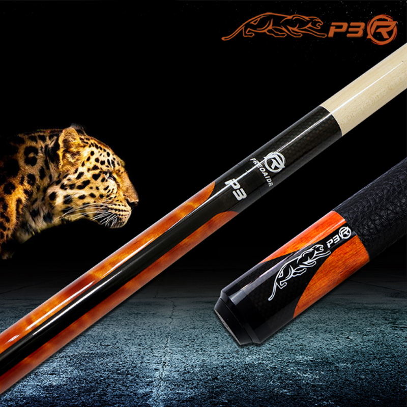 WOLFIGHTER New 3142 Brand P3R Billiards Cue Pool Stick 10mm/11.5mm/13mm Tip 4 Colors China 2017