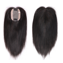 MEIFAN Top Hair Pieces with Bang Hand-made Half Head Wig Nat