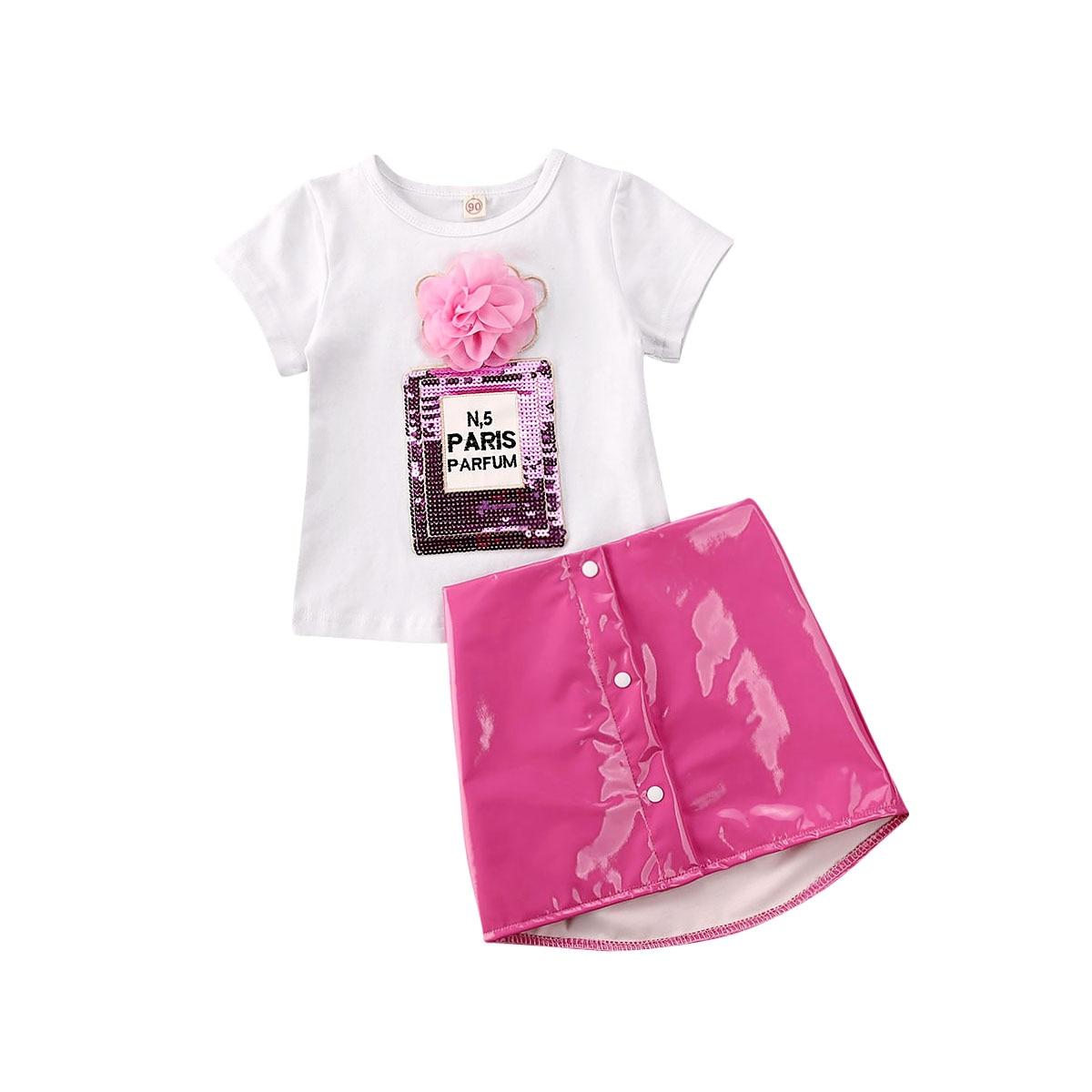 2pcs Toddler Kid Baby Girl T-shirt Tops Fringe Tassel Skirt Dress Clothes Outfit