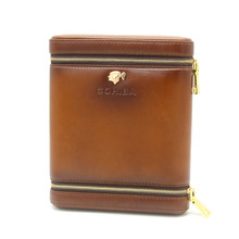 Portable Leather Cigar Case Humidor 6 Tubes Holder Mini Humidor Box Travel Cigars Accessories With Gift Box
