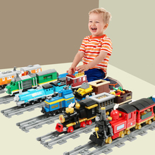City Train Track Building Blocks Compatible Brand Blocks DIY Railway Model Block City Construction Train Toys For Children Gifts 804pcs cogo city buiding construction series engineering assembe building blocks educational diy model toys best gifts for kid