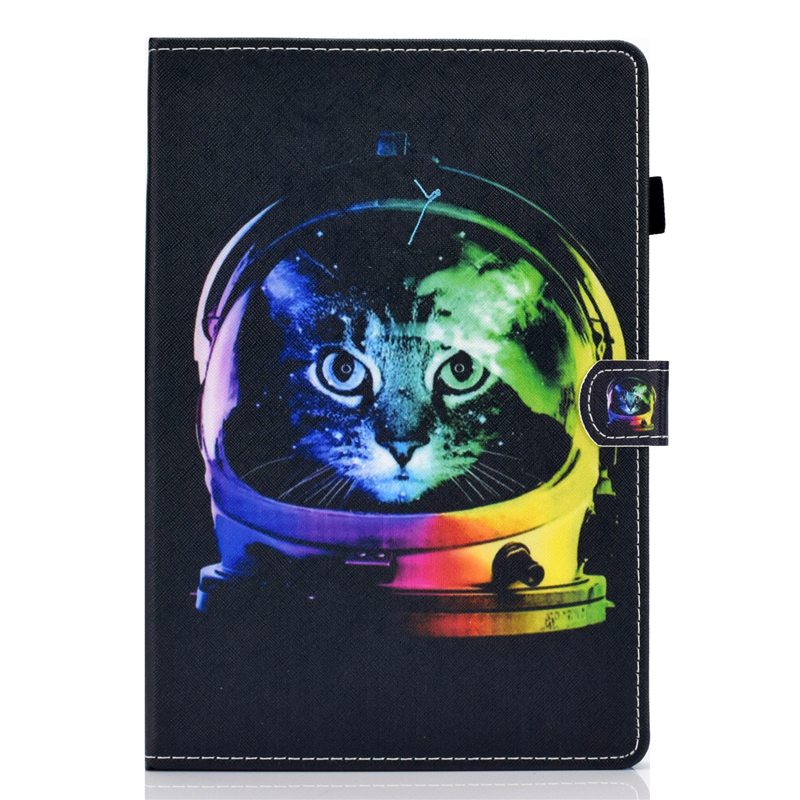 Cartoon Cat Cover For Samsung Tab A 8.0 Inch SM-T380 Leather Stand Case For Samsung Galaxy Tab A 8.0 2017 T380 T385 Covers Cases