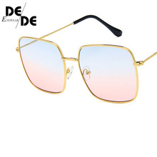 NEW Square Frame Vintage Sunglasses Women Oversized Big Size Sun Glasses for Men Female Shades Black UV400 Eyewear 2019 newest square frame vintage sunglasses women oversized big size sun glasses for men female shades gold gray uv400 eyewear