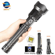 Powerful Led Flashlight Usb Tactical Waterproof Torch Zoom H