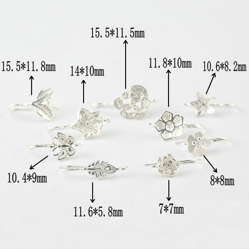A pair 925 sterling silver flower Earring Ear Pins 925 silver butterfly Earrings Clasps Hooks Earwire for earring making DIY in Jewelry Findings Components from Jewelry Accessories