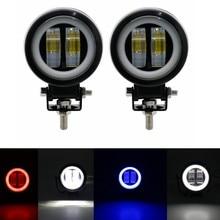 3 polegadas, 20 w, 12 v, 24 v, 6500 k, luzes conduzidas redondas impermeáveis para a barra, holofotes portáteis, motocicleta, suv, cam