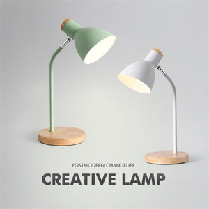 110V 220V E27 Wood Table Lamp