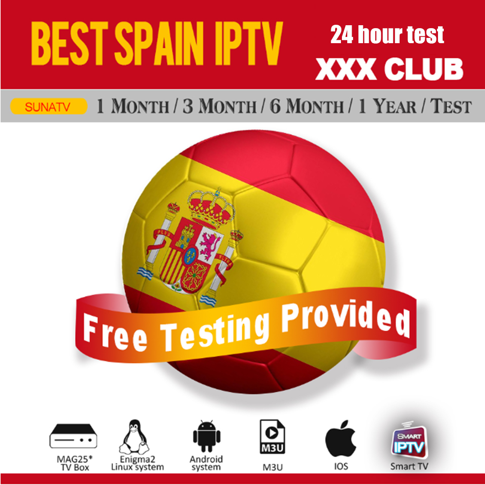 Spain IPTV M3U Subscription Movistar LaLiga DAZN Eurosport Spanish VOD Movies With XXX Support Android Box Enigma2 IOS Smart TV