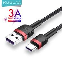 KUULAA-Cable USB de carga rápida para móvil, Cable tipo C de carga rápida para Xiaomi Mi Redmi Note 9 8 7 USB-C