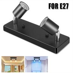 Moderno 2 luzes base da lâmpada e27 suporte da lâmpada de parede arandelas rotatable ponto parede do teto fixado na parede parafuso de iluminação soquete