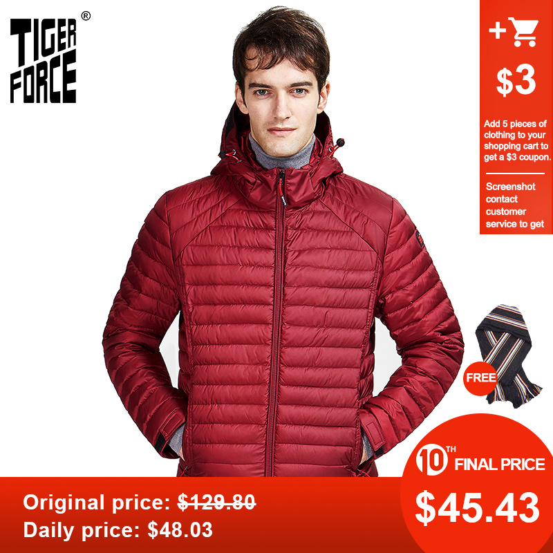 Tiger Force 2020 New  Casual  Men Spring Autumn Jacket  High Fashion Hidden Hood Clothes Male Outerwear Zippers Parkas  50628