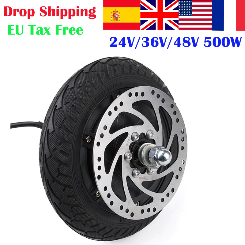 24V 36V 48V 350W <font><b>500W</b></font> Hub <font><b>Motor</b></font> <font><b>Scooter</b></font> Dis Brake Brushless <font><b>Motor</b></font> <font><b>Electric</b></font> E-<font><b>SCOOTER</b></font> Wheel image