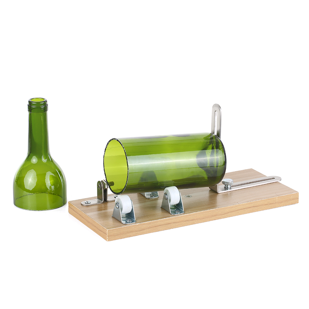 Glass Cutter For Bottles Professional Glass Cutter DIY Art Bottle Cutting Tool Machine For Wine Beer Round Square Oval Bottles