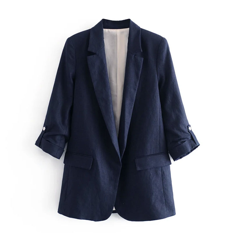 2020 spring blazer england office lady simple navy blazer feminino blazer women blazer mujer 2020 women blazers and jackets