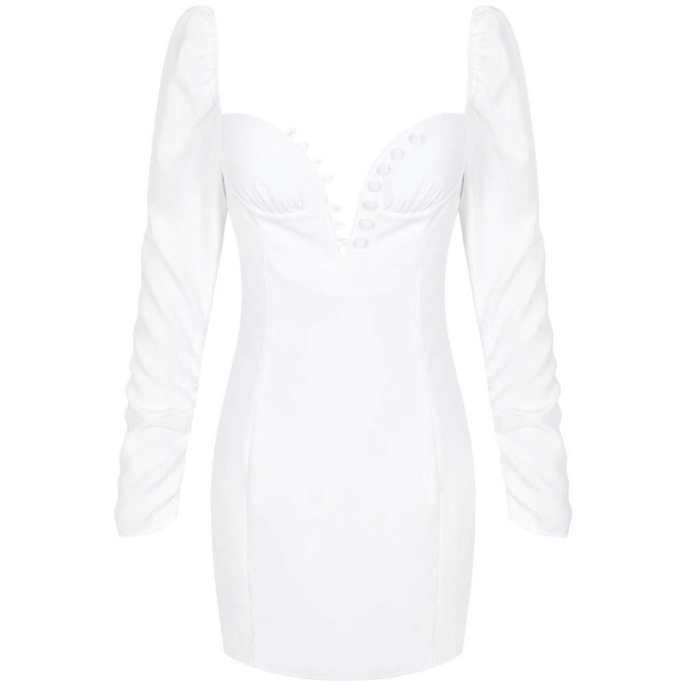 Ocstrade Collar Sleeve White