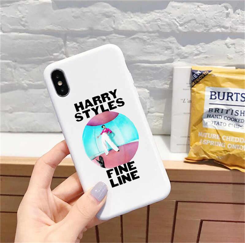 ハリースタイル細線愛ツアーケース iphone 11 プロ XS XR ケースシリコーン電話カバー iPhone 6S 8 7 プラス XS 最大ケース