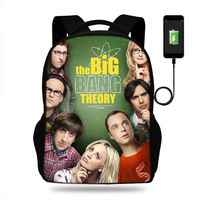 The Big Bang Theory TV Show Backpack Women Men Causal Rucksack Student School Bags For Teenager Girls Boys Daypack Kids Bagpack