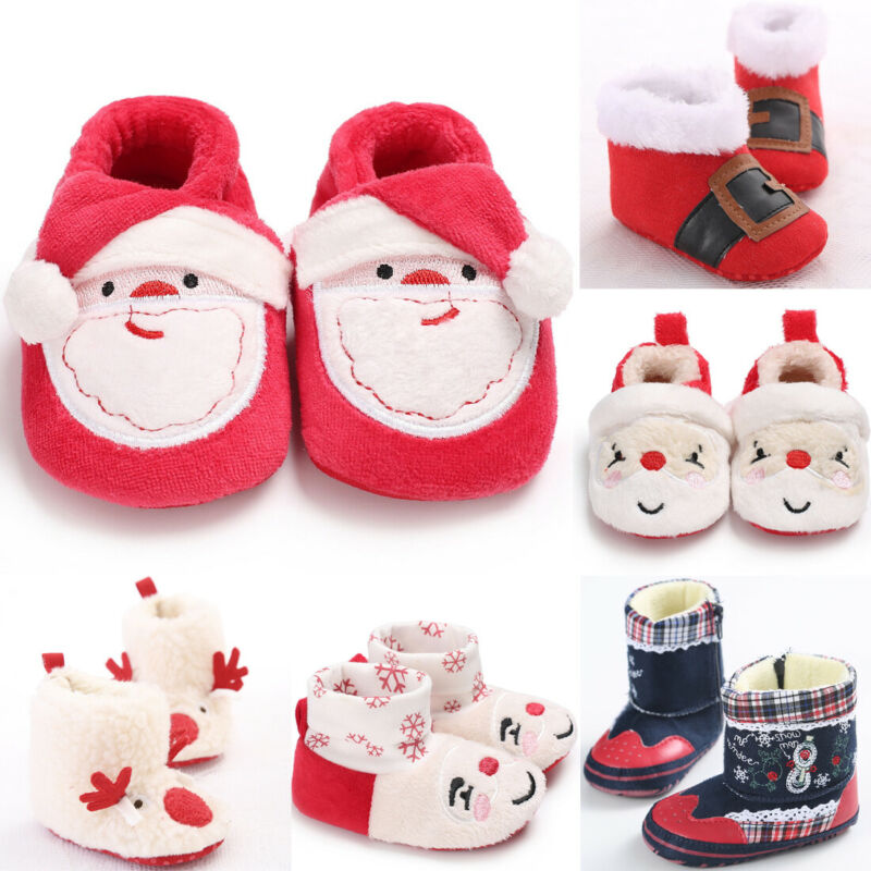 Baby Shoes Cute Christmas Newborn First Walkers Slippers Winter Warm Baby Boots